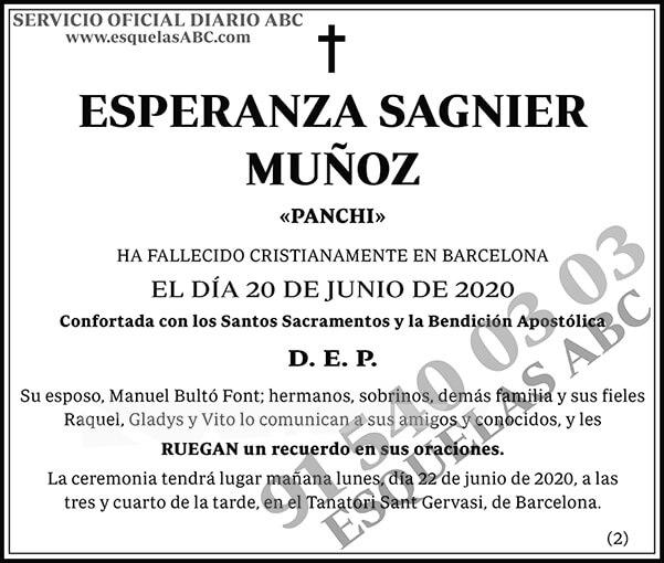 Esperanza Sagnier Muñoz