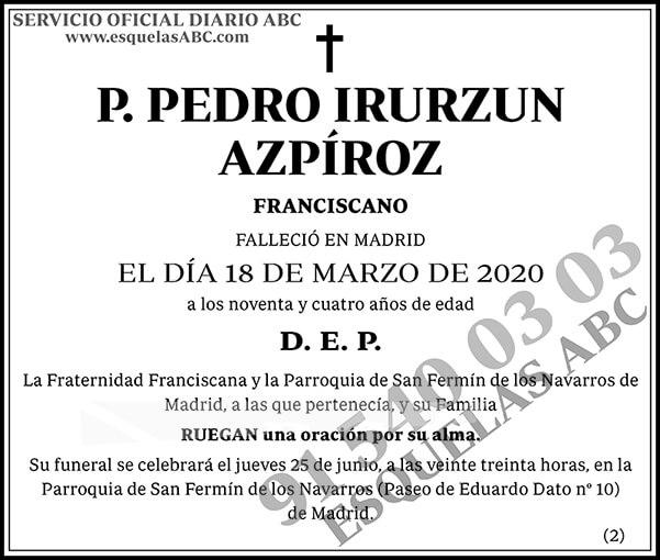 Pedro Irurzun Azpíroz