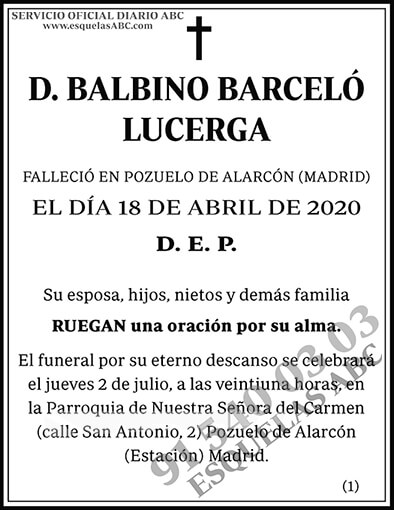 Balbino Barceló Lucerga