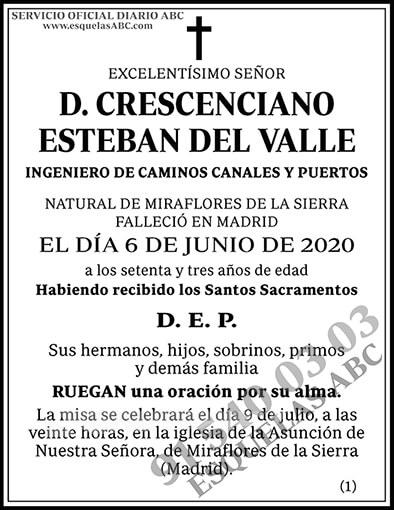 Crescenciano Esteban del Valle