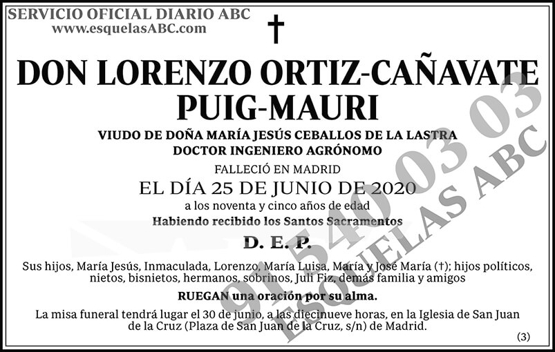 Lorenzo Ortiz-Cañavate Puig-Mauri