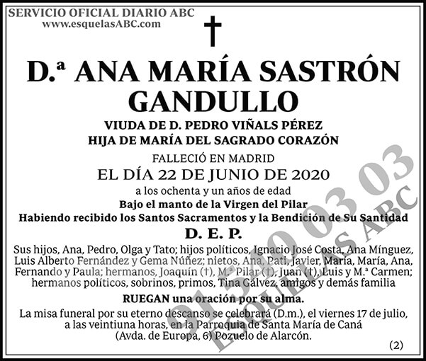 Ana María Sastrón Gandullo