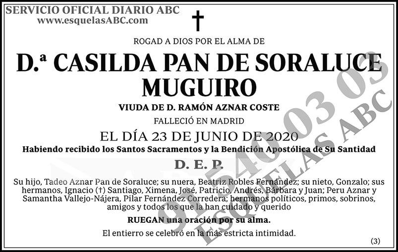 Casilda Pan de Soraluce Muguiro