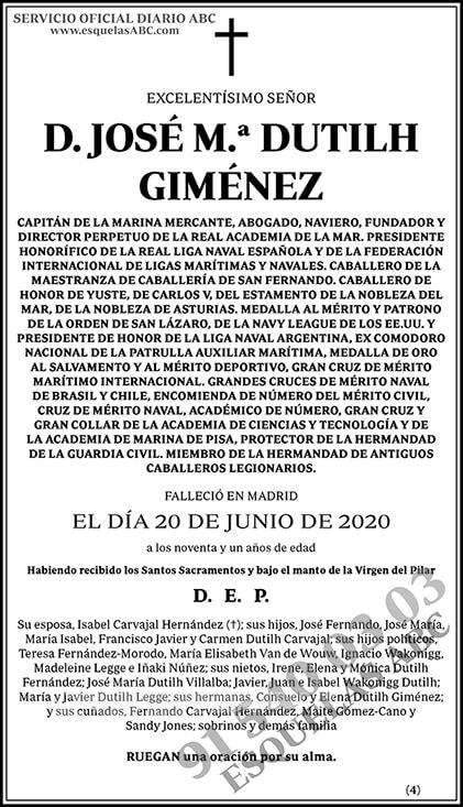 José M.ª Dutilh Giménez