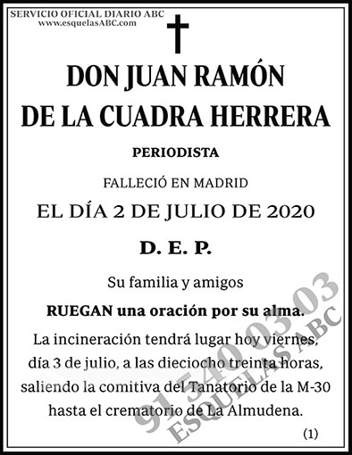 Juan Ramón de la Cuadra Herrera