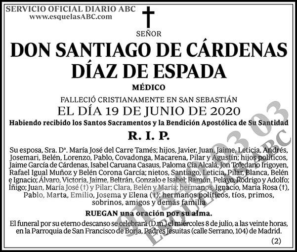 Santiago de Cárdenas Díaz de Espada