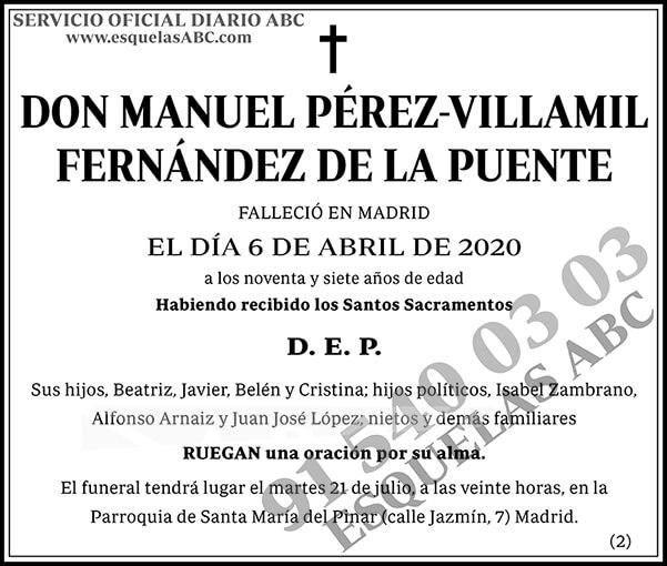 Manuel Pérez-Villamil Fernández de la Puente