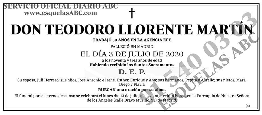 Teodoro Llorente Marín