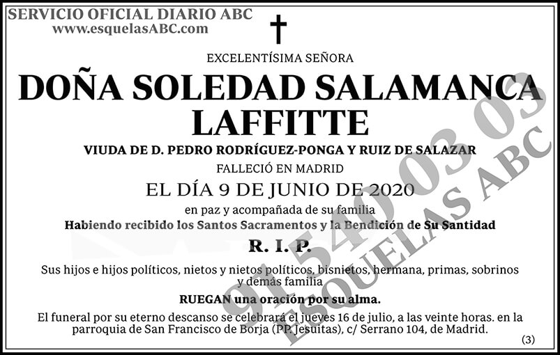 Soledad Salamanca Laffitte