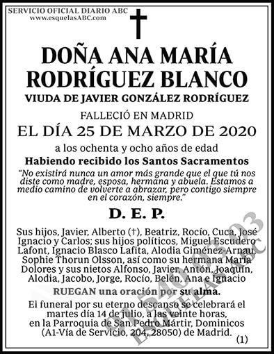 Ana María Rodríguez Blanco