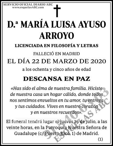 María Luisa Ayuso Arroyo