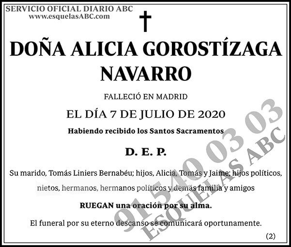 Alicia Gorostízaga Navarro