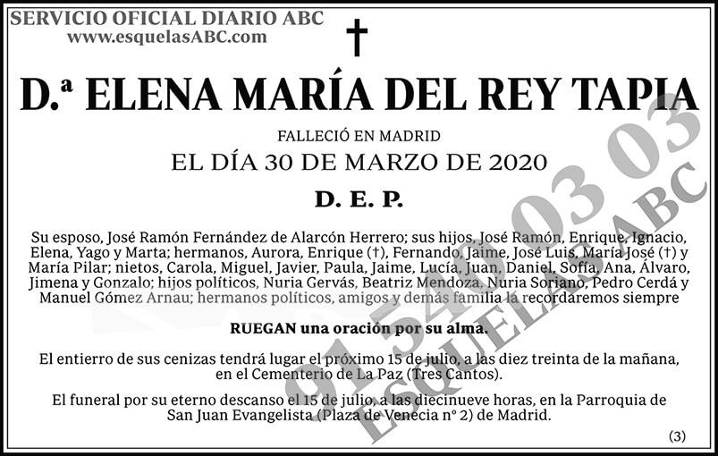 Elena María del Rey Tapia