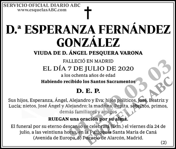 Esperanza Fernández González