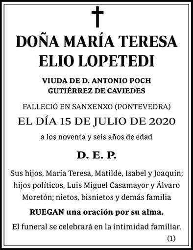 María Teresa Elio Lopetedi
