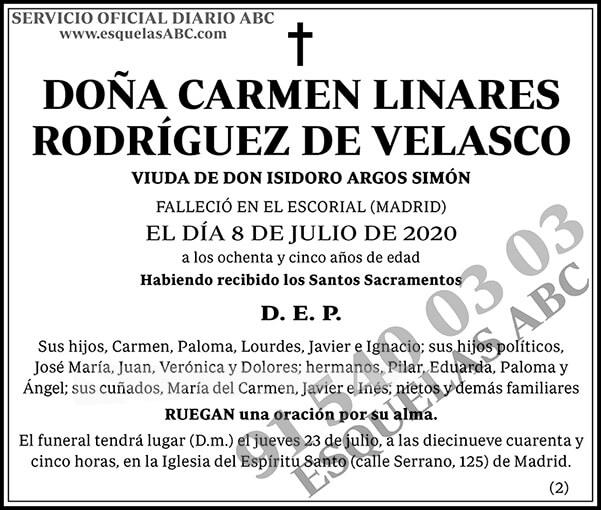 Carmen Linares Rodríguez de Velasco