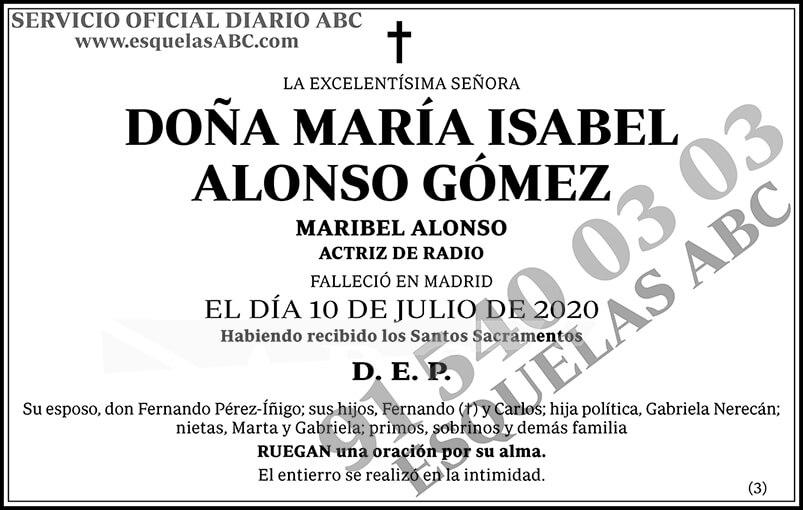 María Isabel Alonso Gómez