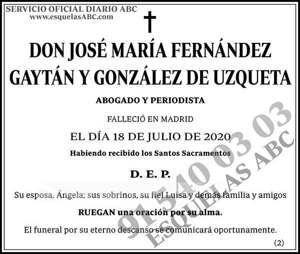 José María Fernández Gaytán y González de Uzqueta