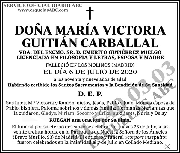 María Victoria Guitián Carballal