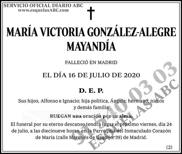 María Victoria González-Alegre Mayandía