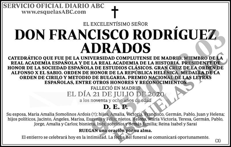 Francisco Rodríguez Adrados