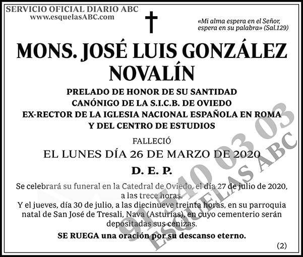 José Luis González Novalín