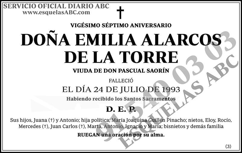 Emilia Alarcos de la Torre