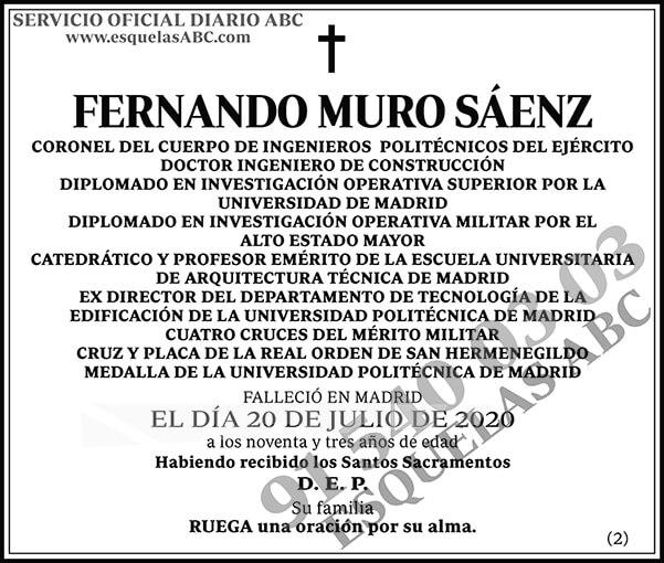 Fernando Muro Sáenz