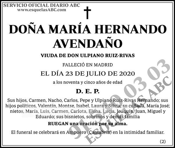 María Hernando Avendaño