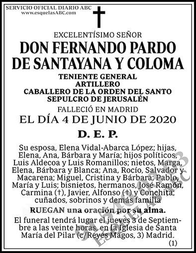 Fernando Pardo de Santayana y Coloma