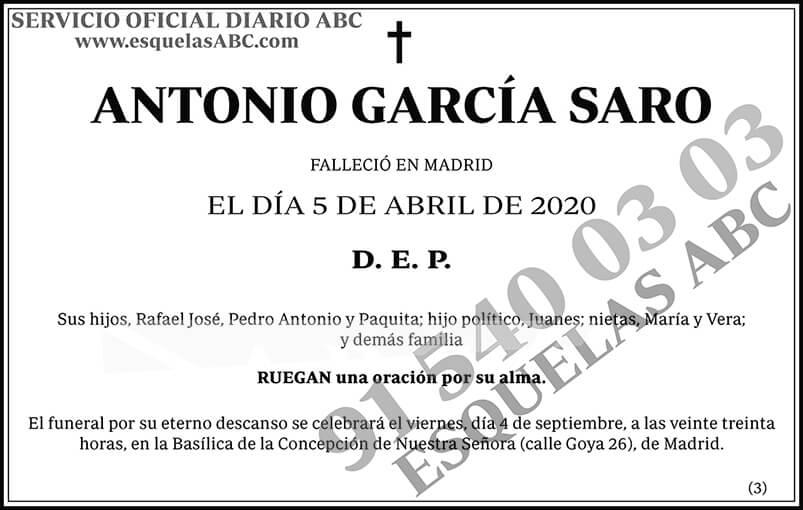 Antonio García Saro