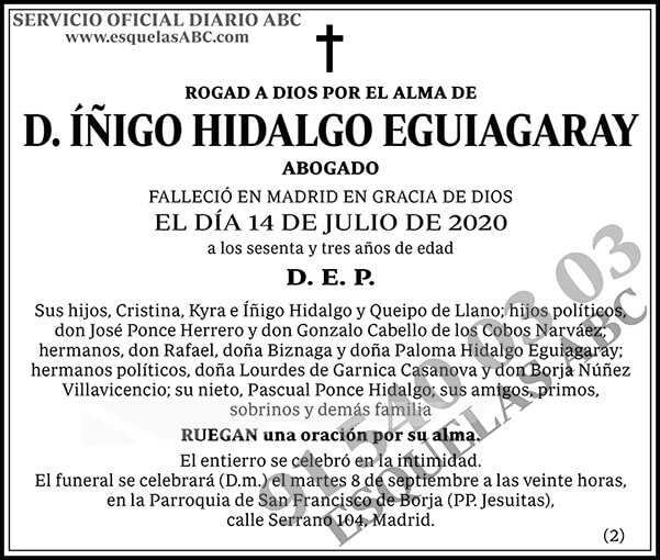Íñigo Hidalgo Eguiagaray
