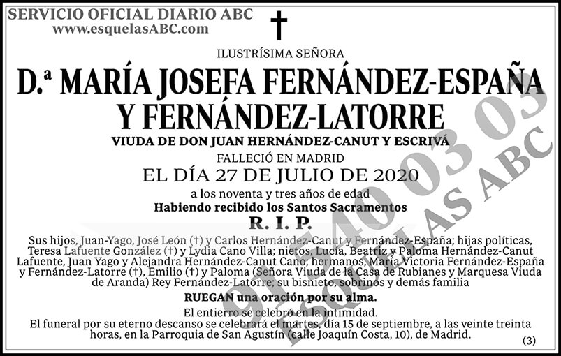 María Josefa Fernández-España y Fernández-Latorre
