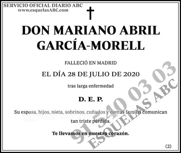 Mariano Abril García-Morell