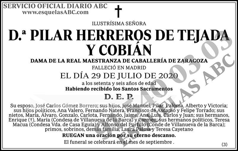 Pilar Herreros de Tejada y Cobián