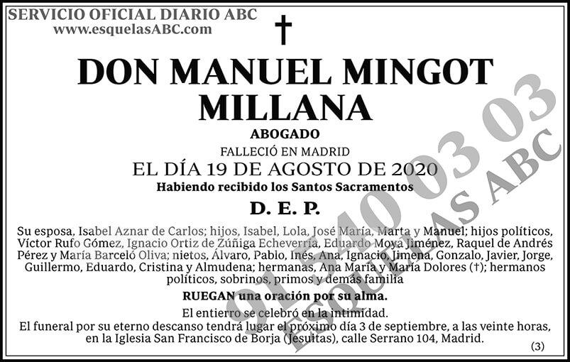 Manuel Mingot Millana