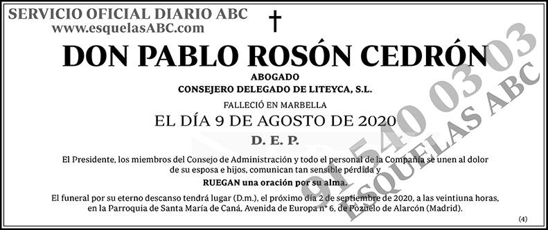 Pablo Rosón Cedrón
