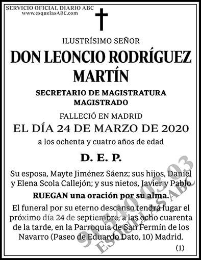 Leoncio Rodríguez Martín