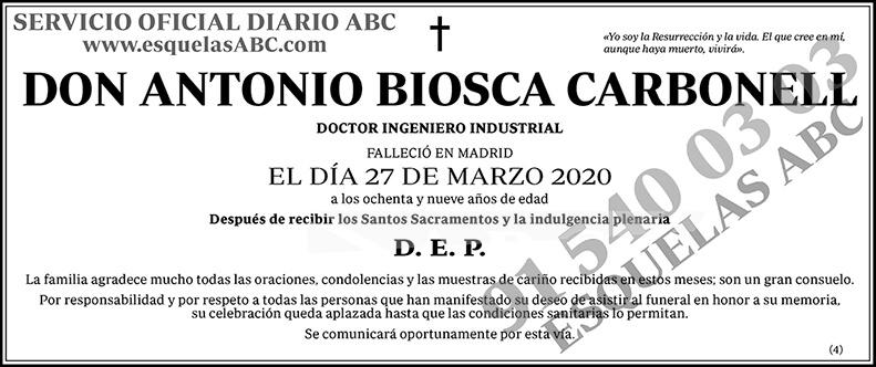 Antonio Biosca Carbonell