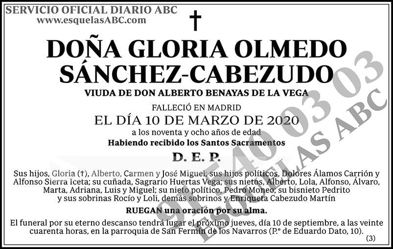 Gloria Olmedo Sánchez-Cabezudo