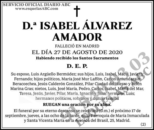 Isabel Álvarez Amador