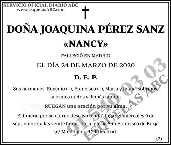 Joaquina Pérez Sanz
