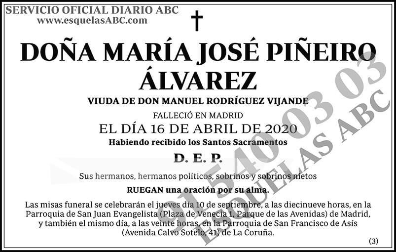 María José Piñeiro Álvarez