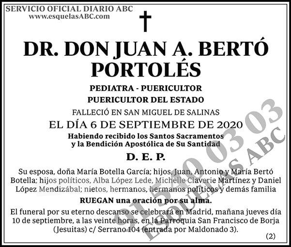 Juan A. Bertó Portolés