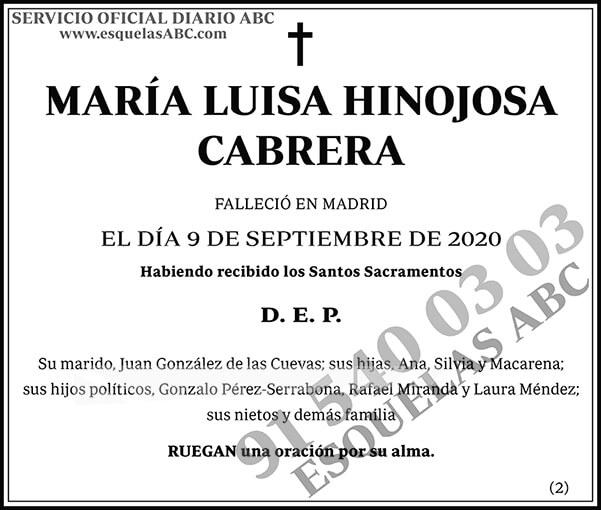 María Luisa Hinojosa Cabrera