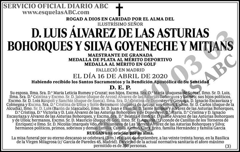 Luis Álvarez de las Asturias Bohorques y Silva Goyeneche y Mitjans