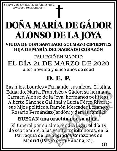 María de Gádor Alonso de la Joya