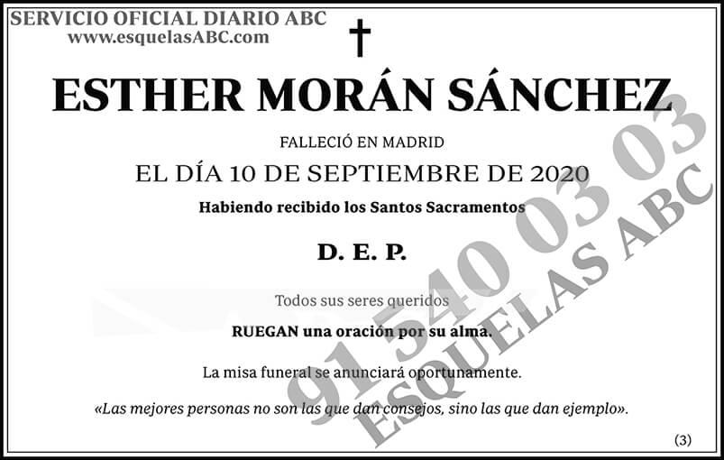 Esther Morán Sánchez