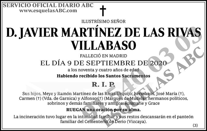 Javier Martínez de las Rivas Villabaso