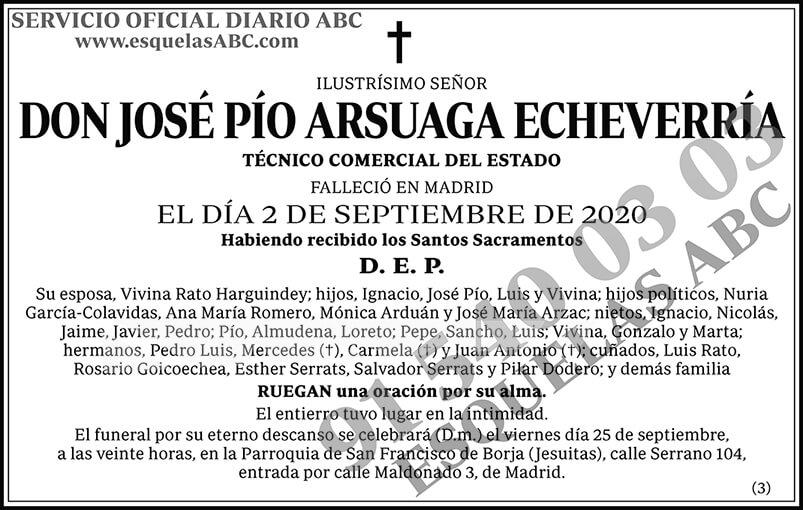 José Pío Arsuaga Echeverría